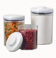 OXO SoftWorks 3 piece POP Round Canister Set