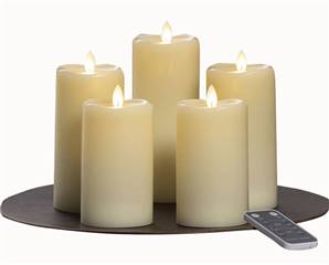 Moving Flame LED Candles 5 pc Set