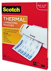100 Scotch 11 1/2 x 9 Laminating pouches 3 mil 11 1/2 x 9