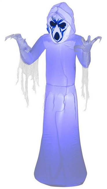 Pre Lit Black Light Inflatable Reaper Halloween Prop
