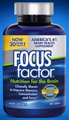 FOCUSfactor Dietary Supplement 180 Tablets
