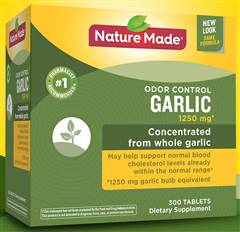 Nature Made Odor Control Garlic 1250 mg 300 Tablets