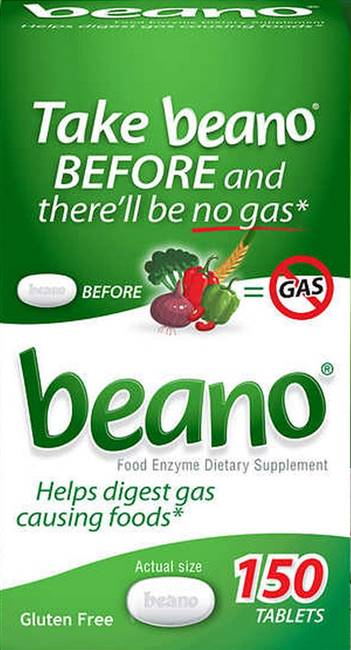 Beano Food Enzyme Dietary Supplement 150 Tablets