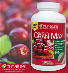 Trunature Cran Max Cranberry 500 mg 180 Veggie Capsules