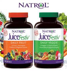Natrol JuiceFestiv Daily Fruit and Veggie 240 Capsules
