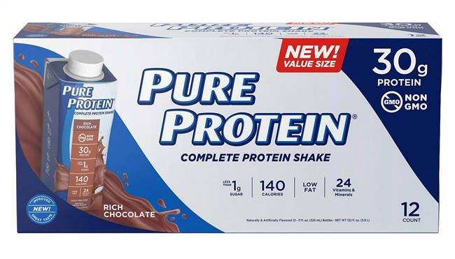 Pure Protein Complete Protein Shake 12 Pack