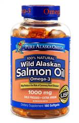 Wild Alaskan Salmon Oil Softgels 180 ct