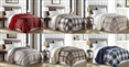 Velvet Plush Sherpa Throw Blanket Lodge Collection