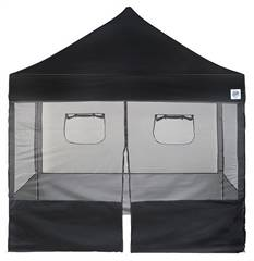 E-Z UP Food Booth Wall Set 10' x 10' Black