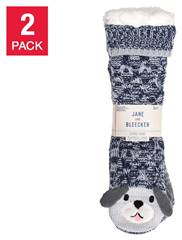 Jane Bleecker Ladies Slipper Socks 2 pair