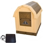Insulated Deluxe Dog House Palace with Floor Heater