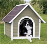 Trixie Pet Pitched Roof Wood Outdoor Dog House with Raised Floor Medium
