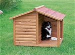 Large Dog Pitched Roof Dog House Wood Doghouse Weatherproof Raised Floor