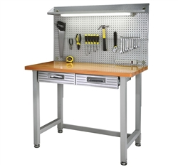 Steel Frame Wood Top Work Bench