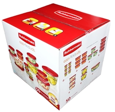 Rubbermaid 50 Piece Plastic Food Storage Containers