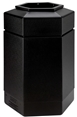 30 Gallon Black Outdoor Trash Can Garbage Bin