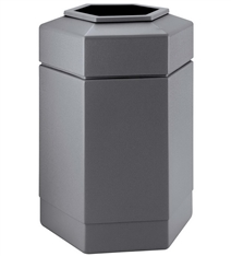 30 Gallon Commercial Zone Hex Trash Can