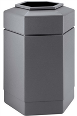 30 Gallon Gray Outdoor Trash Can Garbage Bin