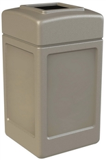 Commercial Zone Square Waste Container, Open Top Lid