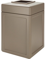 Commercial Outdoor Beige 38 Gallon Garbage Can