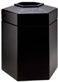 45 Gallon Black Outdoor Trash Can Garbage Bin