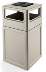 Outdoor 38 gallon Square Trash Can Ashtray