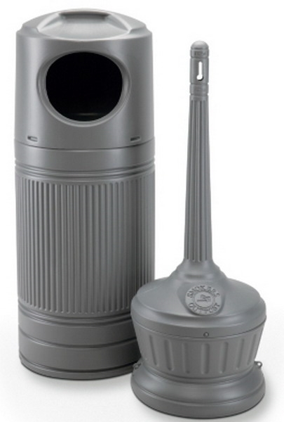 outdoor trash can and ashtray - Commercial Trash Cans