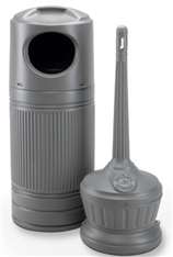 Outdoor Trash Can and Ashtray