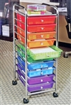 10 Drawer Rolling Scrapbook Cart