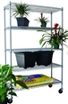 5 tier outdoor wire shelving rack