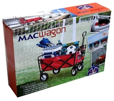 Folding red sports wagon