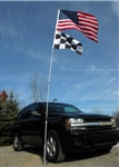 NEW 20' TALL PORTABLE TAILGATE FLAGPOLE & WHEEL STAND