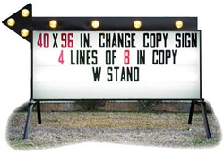 "New 40"" x 8' Portable Flashing Arrow Business Sign"