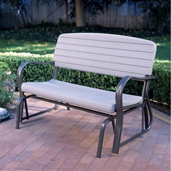 "48"" Porch Glider Bench Rocking Swing Outdoor Furniture Lifetime Patio Seat"