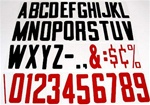 "NEW 150 REPLACEMENT BUSINESS SIGN LETTERS 8"" TALL EACH"