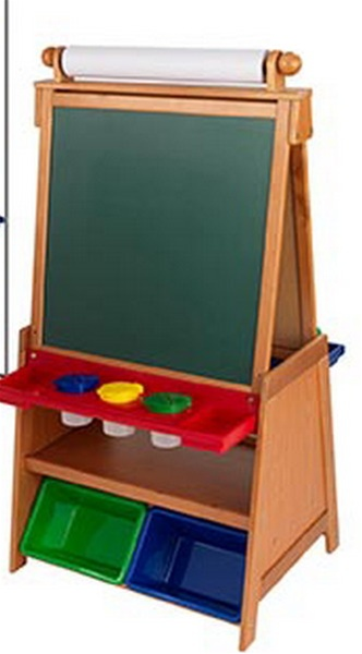 New Kidkraft Kids Wood Art Easel With Bins Chalk Amp White Board