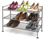 3-Tier Mesh Utility and Shoe Rack