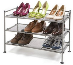3-Tier Mesh Utility Shoe Rack