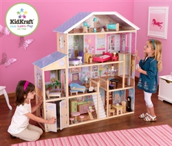 Childrens Kids Play Majestic Mansion Dollhouse