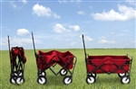 Mac Wagon Folding Red Collapsible Steel Frame Utility Cart