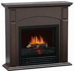 "Electric Classic Fireplace Heater Realistic Flame & 28"" Chestnut Mantle"