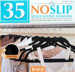 Set of 35 No Slip Velvet Space Saving Hangers