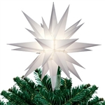 "12"" Lighted White Star Light Christmas Tree Topper"