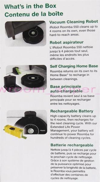 NEW iRobot Roomba 550 Vacuum Cleaner Pet Series Scheduler Floor Cleaning  Robot