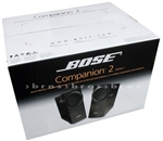 Bose Companion II 2  Multimedia Computer Speakers System Black