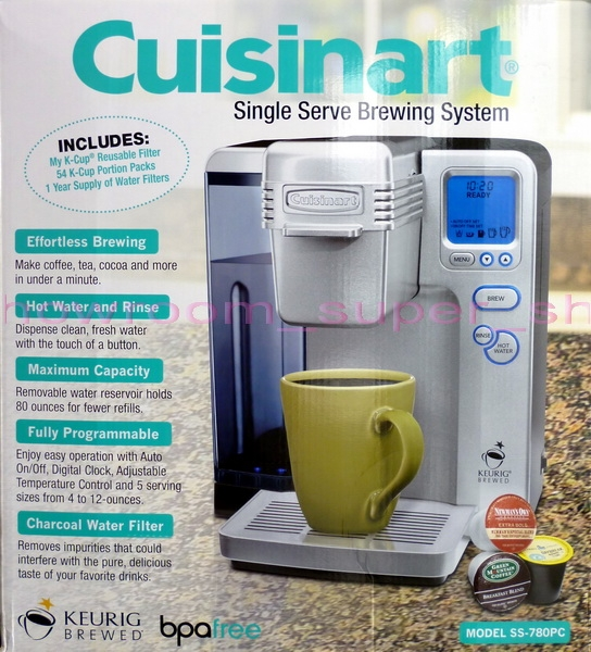 New Cuisinart Single Serve Coffee Maker K Cup Brewing System With 54