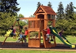 Kids Big Cedar Swing Play Ground Set Slide Clubhouse Playground