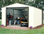 Garden Equipment Storage Shed Vinyl Coated Steel Walls 12' x 24' x 8'