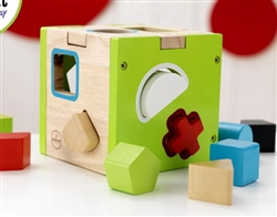 Infant Wood Block Shape Sorting Toy Learning Cube KidKraft