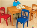 Kids Table 4 Color Chair Set Wood Wooden KidKraft Children's Furniture Set
